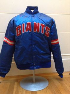 87e49a04e4c Vintage New York Giants Starter Satin Jacket by DeNuevoVintage