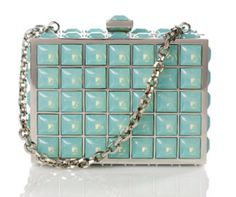 Judith Leiber, the American luxury brand is synonymous with elegance, style - Pretty color Aqua Blue, Aqua Color, Best Handbags, Purses And Handbags, Fairytale Fashion, Turquoise, Judith Leiber, Vintage Purses, Couture