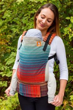 Stewed Rhubarb Con Fuoco Cayenne Weft 2 TULA BABY CARRIER