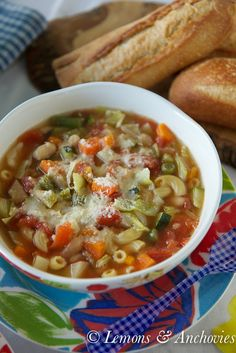 Weeknight Minestrone Soup: 2 cans (14½ ounces each) chicken broth 1 can (15 ounces) cannellini beans 1 can (14 ounces) Hunt's Diced Tomatoes, undrained 2 cups chopped, mixed vegetables (I used carrot, celery, cabbage, zucchini, green beans, potato) ½ cup elbow macaroni, uncooked 2 tablespoons salt-free Italian seasoning mix ¼ cup Kraft Grated Parmesan Cheese