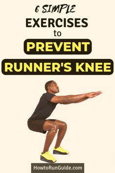 Do you suffer from knee pain when you run? You may have runner's knee, a common knee issue caused by weak or tight muscles. But there's hope! Try these 6 exercises to prevent runner's knee and become a pain-free runner again in no time! Running Injuries, Running Workouts, Running Tips, Easy Workouts, Trail Running, Running Muscles, Monthly Workouts, Weight Workouts, Running Humor