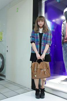 ストリートスナップ [理佳子] | Mulberry, used, 古着 | 原宿 | Fashionsnap.com