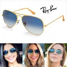 96a1a0e9de6ff ... 3024 Lente Azul Original Várias Cores. Simone Toste2 · Óculos sol e  grau · Óculos de Sol Ray Ban Aviador Azul Degrade