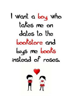 This is why I love my man....took me to a bookstore for Valentines Day and bought me books instead of roses.  He is perfect for me in every way!