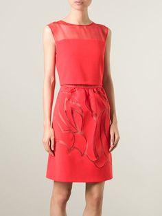 Alberta Ferretti Sheer Detail Dress - Eraldo - Farfetch.com
