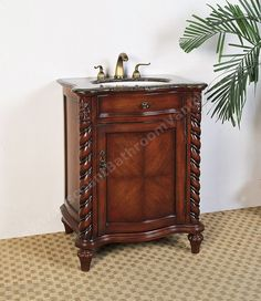 "Small 26"" Traditional Single Sink Bathroom Vanity"