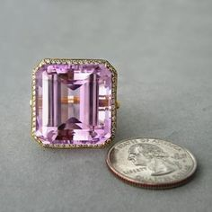 """We tell our customers """"the sky's the limit"""" with custom design... even when the ring that you want is the size of a small car! Hello gorgeous!"""
