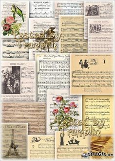 Musical backgrounds – Notes sheets
