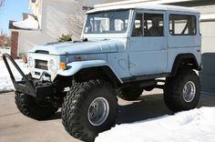 1971 Toyota Land Cruiser FJ40-There is one just like this in my work's parking garage and my mouth waters every time I drive by it!! Beautiful