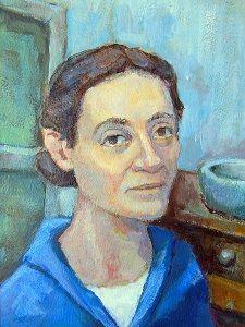 Christine Lavant (4 juli 1915 – 7 juni 1973) - Portret door Alfons Niex, 2012