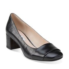 c21db458776 Chinaberry Sky Black Combi Leather - Clarks Womens Shoes - Womens Heels and  Flats - Clarks