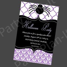 Set of 20 Glamour Elegant Halloween Party by PartyPlanItDesigns, $20.00