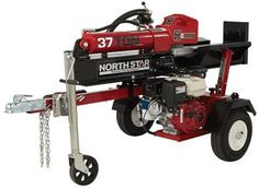 NorthStar Horizontal/Vertical Log Splitter - 37-Ton, 270cc Honda GX270 Engine Lawn Equipment, Outdoor Power Equipment, Logs, Lawn Mower, Log Splitter, I Beam, Wedge, Power Tools, Washer