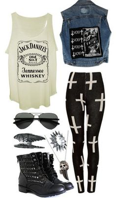 Polyvore~Nirvana punk rock outfit | Outfits | Pinterest ...