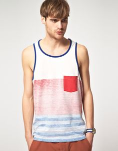 Summer tank with stripes