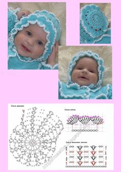 58 ideas for crochet knit baby mermaid tails Baby Bonnet Pattern, Crochet Baby Bonnet, Baby Afghan Crochet, Crochet Baby Clothes, Booties Crochet, Baby Booties, Crochet Hats, Easy Knitting Patterns, Crochet Patterns