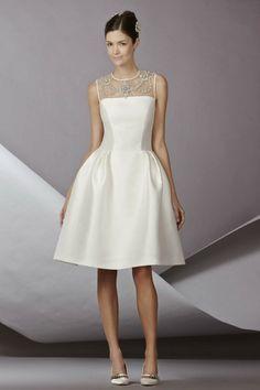 knee registry office dress Glöckenrock elegant bridal