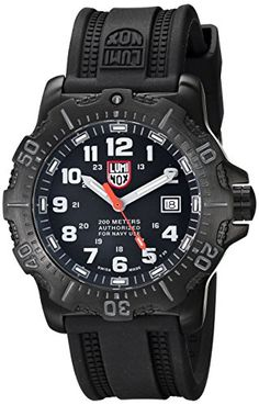 Luminox Men's 4221 ANU 4200 Series Analog Display Analog Quartz Black Watch >>> Details can be found by clicking on the image.