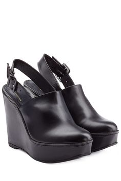 Robert Clergerie Leather Wedges