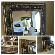 One of our unique mirrors at Walter Adams Framing. #mirror #art #interiordesign #flowers #walteradamsframing