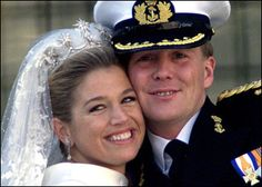 One of the most beautiful royal weddings ever. Maxima and Willem of the Netherlands. (2002)