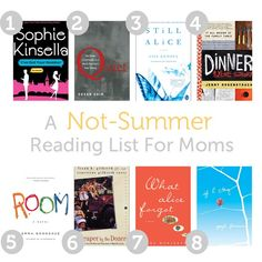 8 books worth making time to read for! -I'll have to check these out. Reading Room now. I Love Books, Books To Read, My Books, Summer Reading Lists, Reading Time, Books For Moms, Reading Rainbow, Lus, Reading Material
