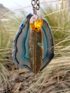 Amber Feather Rock