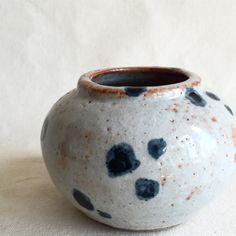 malinda reich blue dot vase
