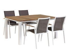 Gartentisch alu 90x90  PURO & IBIZA Dining Gartenset F, Gartengruppe Hochwertige ...