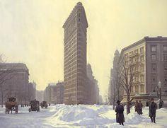 Flat Iron Oil on Canvas John Payne, Flatiron Building, Flat Iron, Oil On Canvas, Nostalgia, Street View, Nyc, Artist, Painting