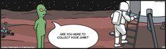 From the martian's view. F Minus on GoComics.com #humor #Comics #Mars #OuterSpace #NASA