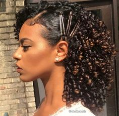 Hairstyles For Natural Hair Alluring Curly Hairstyles Natural Hair 3B 3C Curls Half Updo Braids