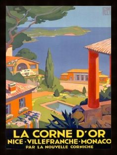vintage travel posters are beautiful art and great inspiration, for their colors, simplicity and composition.