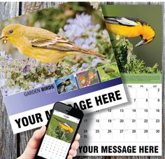 2021 Garden Song Birds Wall Calendars low as Advertise your business, organization or event logo and ad message the entire year! Calendar App, Print Calendar, Promotional Calendars, Date Squares, Wall Calendars, Us Holidays, Garden Birds, Event Logo, Advertise Your Business