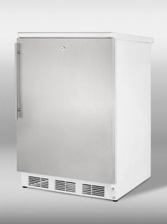 Summit FF7LSSHV 5.5 cu. ft. Undercounter Refrigerator with Lock, Stainless Steel Door and Vertical Summit http://www.amazon.com/dp/B00928DA4Y/ref=cm_sw_r_pi_dp_s6avvb00W8Q8Y