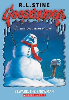 Goosebumps Beware, the Snowman, a book by R L Stine, R. Good Books, My Books, Evil Smile, Dark And Twisted, Kids Growing Up, Book Lists, Book Series, Book Worms, Childhood Memories