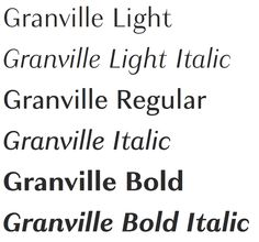 Granville Font by Production Type  https://www.productiontype.com/family/granville