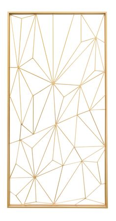 Covered in gorgeous geometric design, this decorative gem will easily elevate any bare slice of wall space. Made from lustrous gold-finished metal, this open-faced Geode Wall Decoration offers a modern...  Find the Geode Wall Decoration in Gold, as seen in the Bohemian Outdoor Flair Collection at http://dotandbo.com/collections/bohemian-outdoor-flair?utm_source=pinterest&utm_medium=organic&db_sku=124691