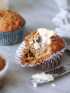 Banana Bread Muffins with Toasted Coconut makes for a great bake and take breakfast