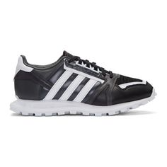 adidas x White Mountaineering - Black Leather Racing 1 Sneakers