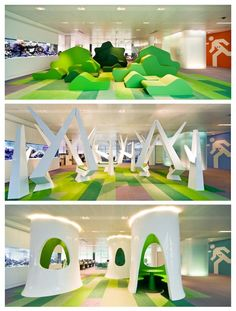 Bloomberg Headquarters in London by Jump Studios - Playful room decals (also functional as seating) What Is Play, Cool Office Space, Studio Interior, Office Decor, Office Ideas, Office Interiors, Interior Design Inspiration, Playground, Interior Architecture