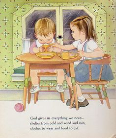 My Little Golden Book About God by Jane Werner Watson, illustrated by Eloise Wilkin. 1975.