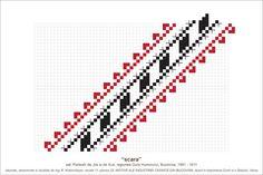 Semne Cusute: MOTIVE: scara (P23, M11) Moldova, Hama Beads, Beading Patterns, Pixel Art, Cross Stitch, Embroidery, Blog, Artists, Border Tiles