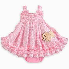 Disney Lady Woven Dress for Baby | Disney StoreLady Woven Dress for Baby - Lady and the Tramp's leading Lady makes puppy eyes on this organic cotton woven dress. Featuring an allover floral print and smocking, it will put your precious little pooch in the pink.