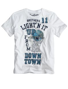 """Brothers """"Ligh'n it up from downtown"""" t shirt #Justice #basketball"""