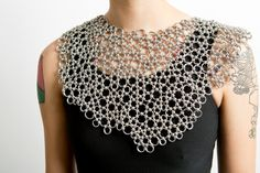Chainmaille ONE of a KIND Japanese lace necklace collar Custom Made