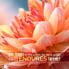 Give thanks to Yahweh, for he is good; for his loving kindness endures forever. Bible Verse Art, Memory Verse, Scripture Quotes, Bible Scriptures, Psalm 136, He Is Lord, Christ In Me, Be Exalted, Lord Is My Strength