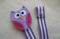 Purple and Pink Owl Pacifier Clip by littlesunshinedesign on Etsy, $7.00
