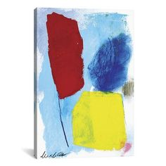 """Brayden Studio In Between Painting Print on Wrapped Canvas Size: 40"""" H x 26"""" W x 1.5"""" D"""