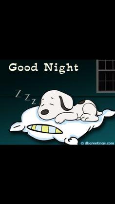 Snoopy sleeping on a pillow. Good Night Sleep Tight, Good Night Image, Good Morning Good Night, Good Sleep, Sleep Well, Good Night Quotes Images, Good Night Messages, Night Pictures, Good Night Greetings